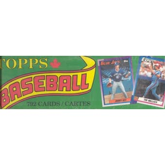 1990 Topps OPC Baseball Factory Set (Box) (Green)