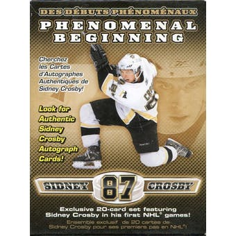 2005/06 Upper Deck Sidney Crosby Phenomenal Beginnings Hockey Set