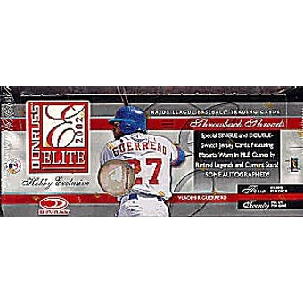 2002 Donruss Elite Baseball Hobby Box