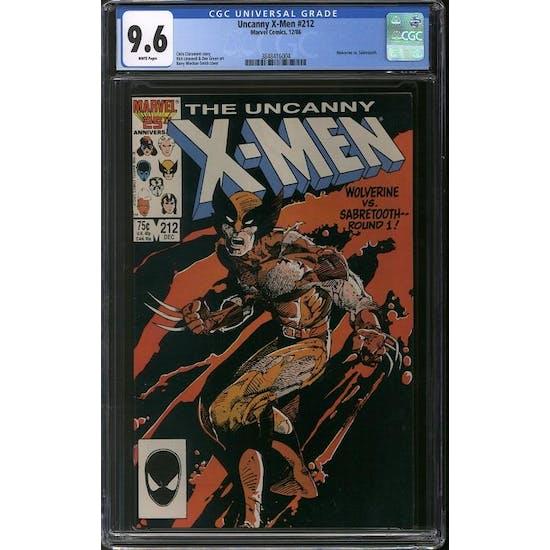 Uncanny X-Men #212 CGC 9.6 (W) *3848416004*
