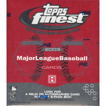 2003 Topps Finest Baseball 6 Pack Mini Hobby Box