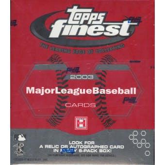 2003 Topps Finest Baseball 6 Pack Mini Hobby Box