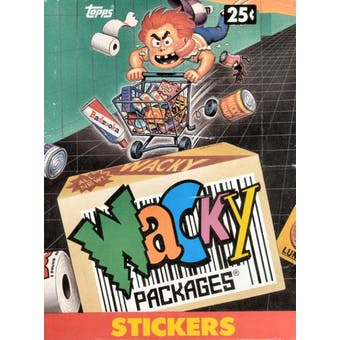 Wacky Packages Stickers Wax Box (1991 Topps)