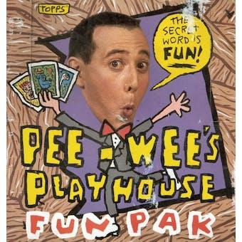 Pee-Wee's Play House Fun Pak Wax Box (1989 Topps) (Pee Wee Herman)