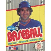 1989 Fleer Baseball Wax Box (Reed Buy)