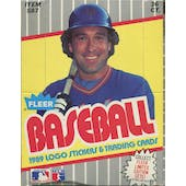1989 Fleer Baseball Wax Box (Billy Ripken FF Error - Early Print Run!) (Reed Buy)