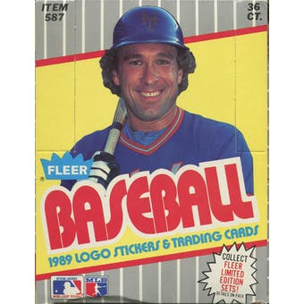 1989 Fleer Baseball Wax Box