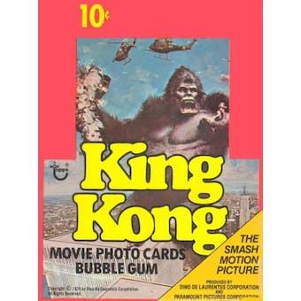 King Kong Wax Box (1976 Topps)