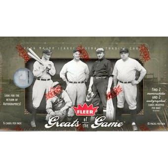 2006 Fleer Greats Of The Game Baseball Hobby Box (Upper Deck)