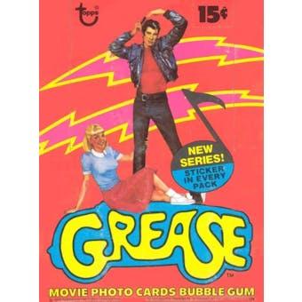 Grease Series 2 Wax Box (1978 Topps)