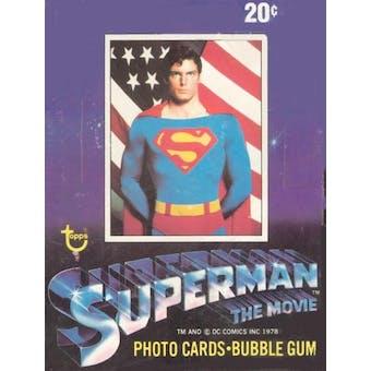 Superman: The Movie Series 1 Wax Box (1978-79 Topps)