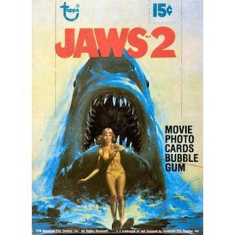 Jaws 2 Wax Box (1978 Topps)