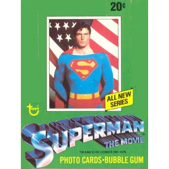 Superman: The Movie Series Two Wax Box (1978 Topps)
