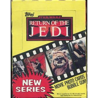 Star Wars Return of the Jedi Series 2 Wax Box (1983 Topps)