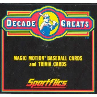 1986 Sportflics Decade Greats Baseball Factory Set