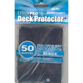 Ultra Pro Fantasy Black Standard Deck Protectors 50 Count Pack - Regular Price $4.99 !!!