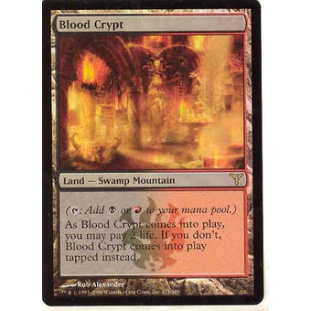 Magic the Gathering Dissension Single Blood Crypt Foil - MODERATE PLAY (MP)