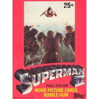 Superman II The Movie Wax Box (1980 Topps)