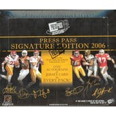2006 Press Pass Signature Edition Football Hobby Box
