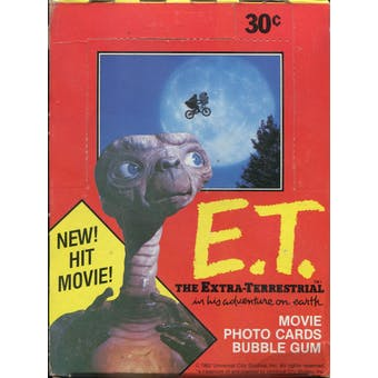 E.T. Wax Box (1982 Topps)