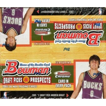 2005/06 Bowman Draft Picks And Prospects Basketball 24 Pack Box