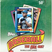 1990 Topps Baseball Hobby Box (Test Wrap) (Reed Buy)