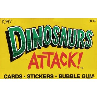 Dinosaurs Attack! Wax 36 Pack Counter Display Box