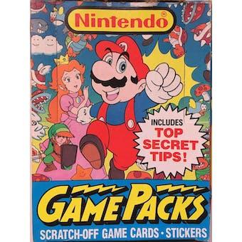 Nintendo Game Packs Wax Box (1989 Topps)