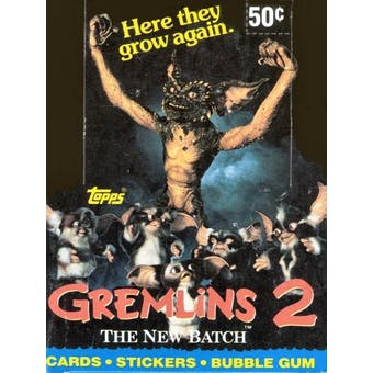 Gremlins 2 Wax Box (1990 Topps)