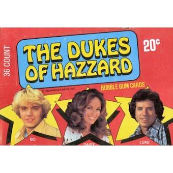 Dukes of Hazzard Wax Box (1980 Donruss)