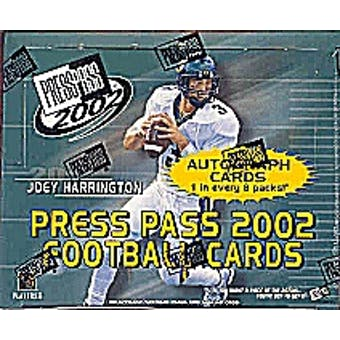 2002 Press Pass Football Hobby Box