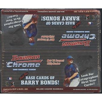 2005 Bowman Chrome Baseball 24-Pack Retail Box