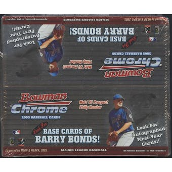 2005 Bowman Chrome Baseball 24-Pack Retail Box