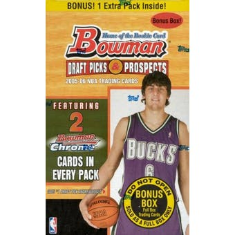 2005/06 Bowman Draft Picks And Prospects Basketball 6 Pack Box