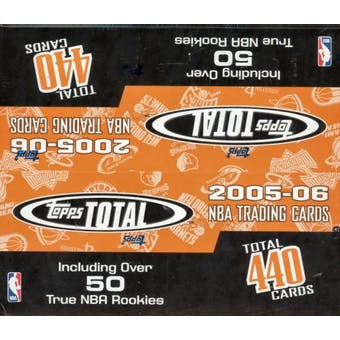 2005/06 Topps Total Basketball 36 Pack Box