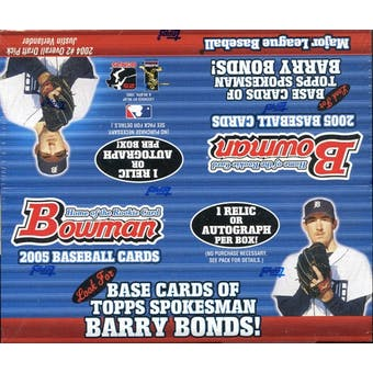 2005 Bowman Baseball 24 Pack Box