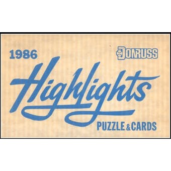1986 Donruss Highlights Baseball Factory 15 Set Case