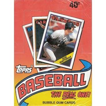 1988 Topps Baseball Factory Sealed Wax Box