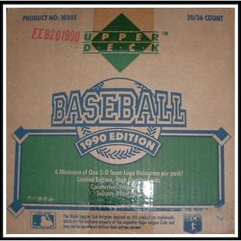 1990 Upper Deck Series 1 Baseball Wax 20-Box Case