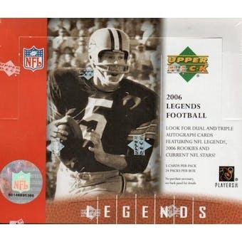2006 Upper Deck Legends Football Hobby Box