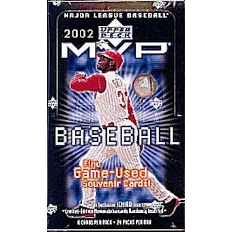 2002 Upper Deck MVP Baseball Hobby Box