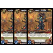 World of Warcraft War of the Elements Landro's Lichling Unscratched Loot Card 3x LOT