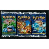Pokemon Base Set 1 Black Triangle Error Booster 3 Pack Lot ART SET - ALL 3 Packs Apparently Heavy ?