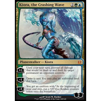 Magic the Gathering Born of the Gods Single Kiora, the Crashing Wave Foil NEAR MINT (NM)