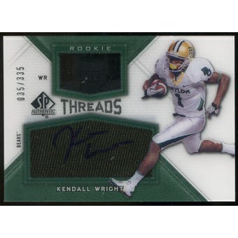 2012 Upper Deck SP Authentic Rookie Threads Autographs #RTKW Kendall Wright Autograph /335