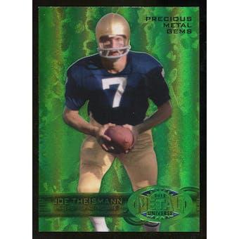 2012 Upper Deck Retro Joe Theismann Precious Metal Green Gem Serial 2/10
