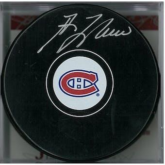 Guy Lafleur Autographed Montreal Canadiens Hockey Puck (JSA COA)
