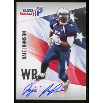 2012 Upper Deck USA Football Autographs #14 Daje Johnson Autograph