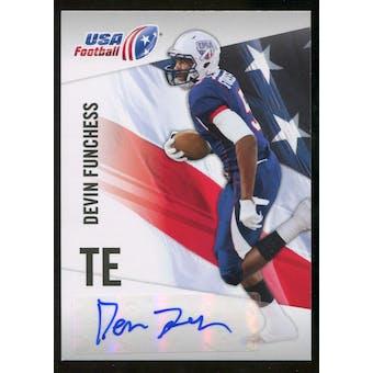 2012 Upper Deck USA Football Autographs #15 Devin Funchess Autograph