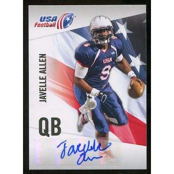 2012 Upper Deck USA Football Autographs #30 Javelle Allen Autograph
